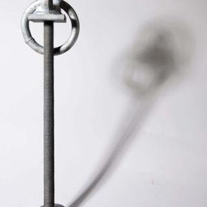 Afmeerring van thermisch verzinkt staal met schroefdraad op draadeind