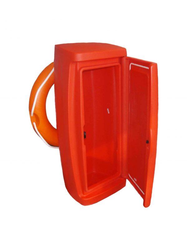 Veiligheidsbox van Walcon Marine zonder aluminium standaard met reddingsboei